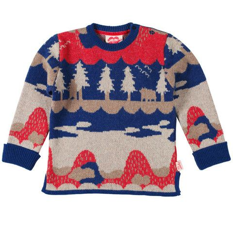 New Forest jacquard knit jumper by Tootsa MacGinty