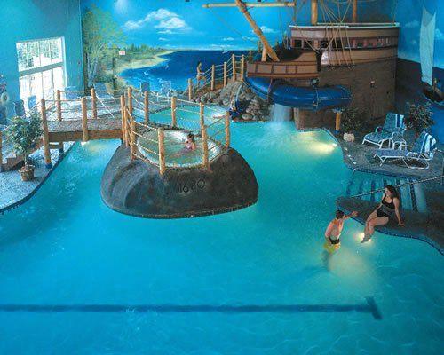 Cool Indoor Pools With Slides 64 best fantasy house: indoor pool images on pinterest | indoor
