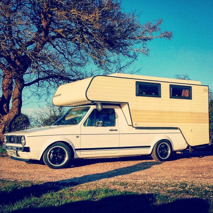 My '88 Mk1 vw caddy, Tischer Caddycaemp demountable camper. https://www.instagram.com/EUANMB/