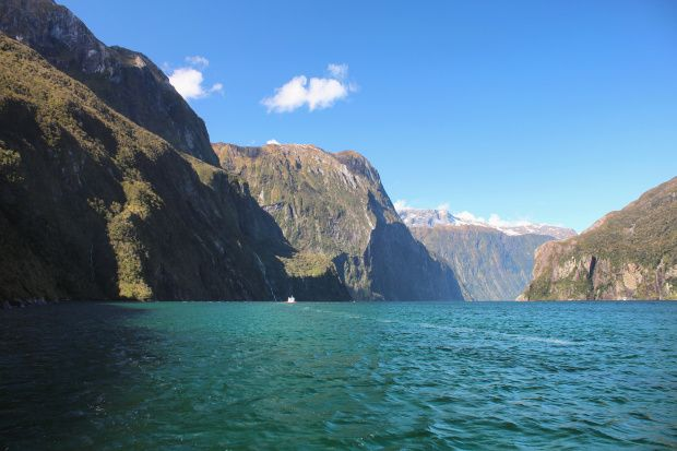 The changing scenery of Milford Sound, New Zealand