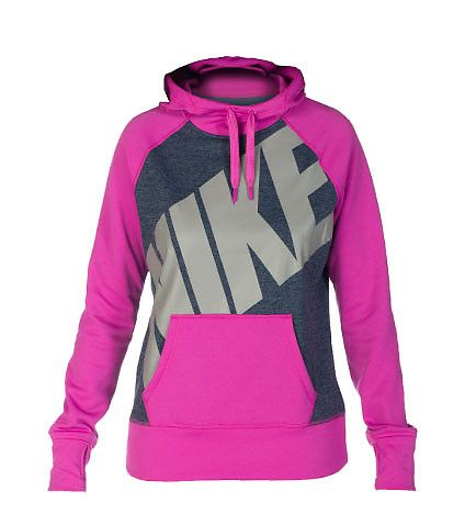 NIKE Extreme lightweight fleece hoodie Adjustable drawstring on hood Screen print NIKE logo on front Single front pocket design