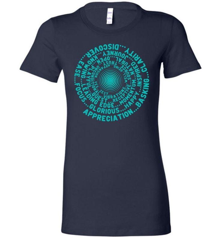 ABC FEEL GOOD VORTEX * Abraham-Hicks Inspired * Men Women T-Shirt - Robin Egg Blue Print