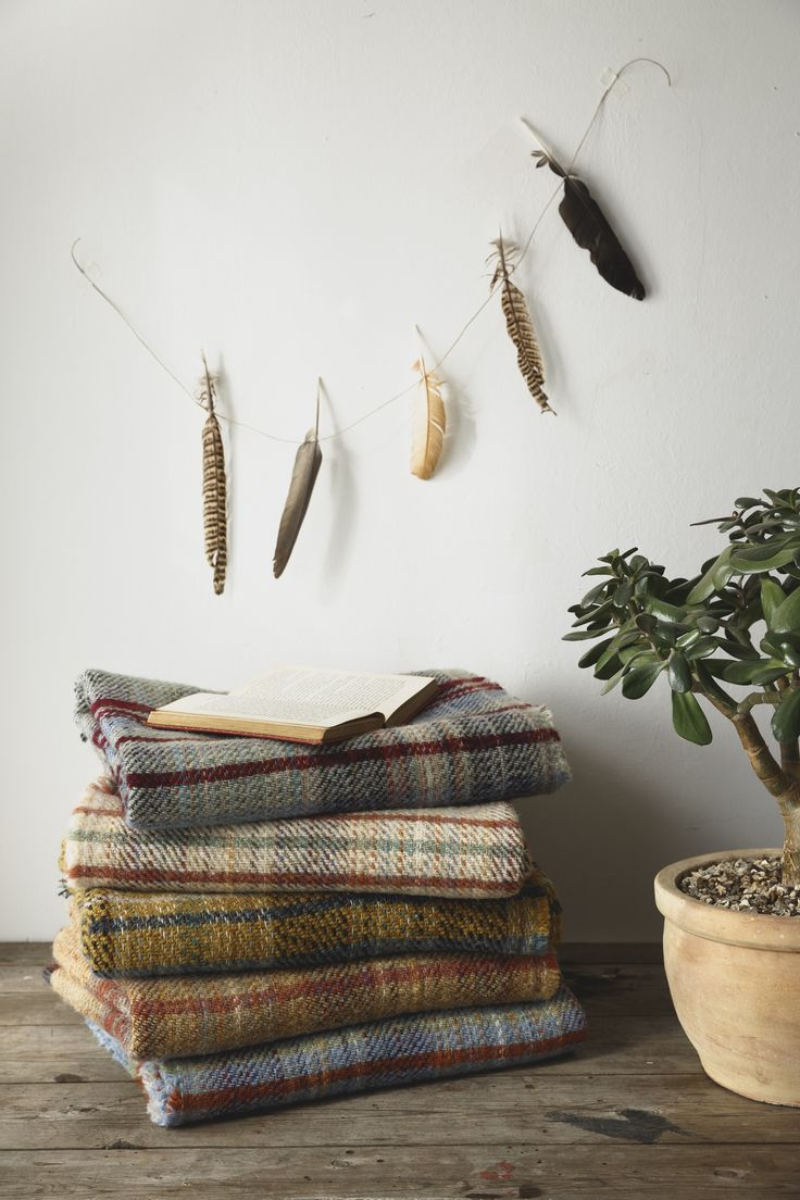 Lovely British Made wool throws x