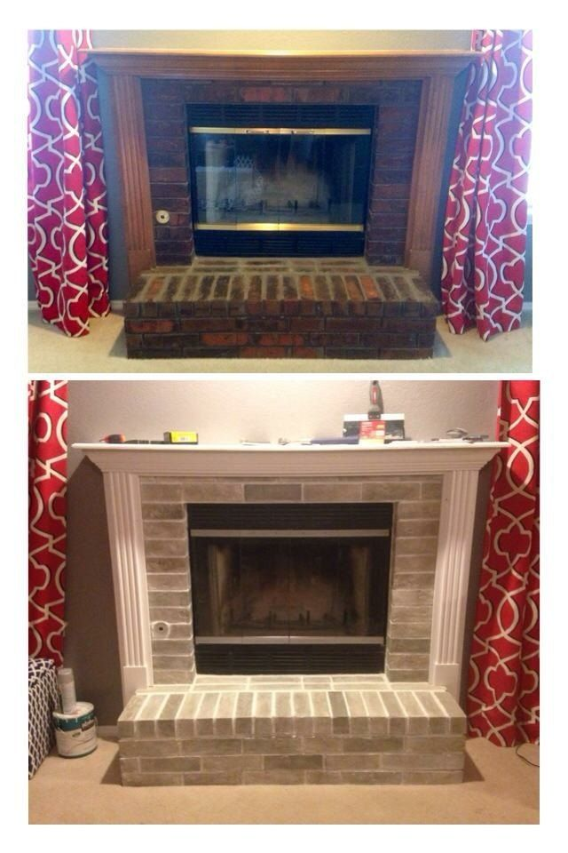 How To Paint Fireplace Facelift Diy Paint Fireplace Painted