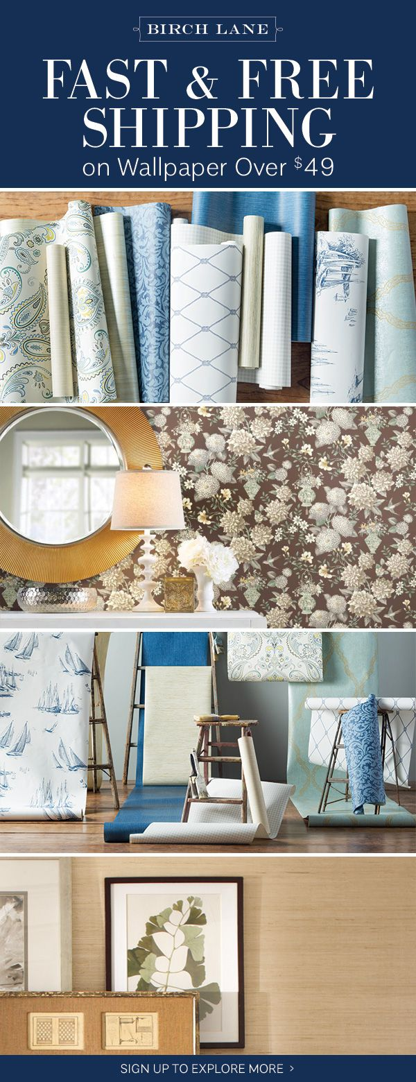Wallpaper at birchlane.com! Sign up to find out more about FREE SHIPPING on all orders over $49!