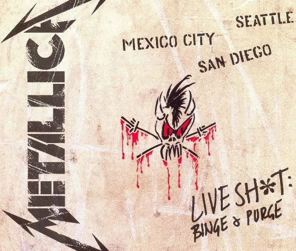 METALLICA DVD | METALLICA - LIVE SHIT: BINGE AND PURGE, SEATTLE, 1989 (DVD) - Es El ...