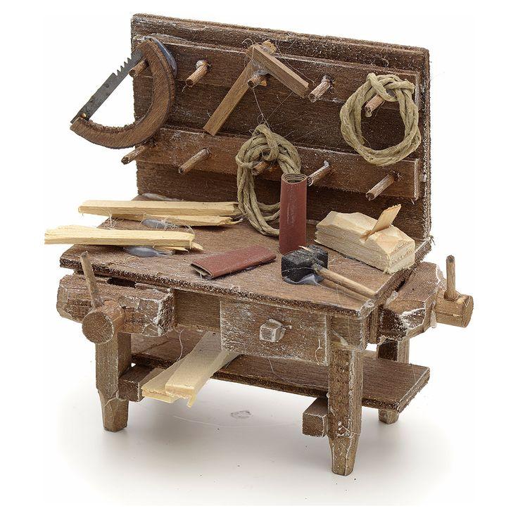 Mesa del carpintero alto pesebre Nápoles | venta online en HOLYART