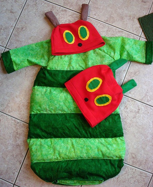 Hungry Caterpillar Costume and Hat with Butterfly Hat by Valley Momma Boutique, via Flickr
