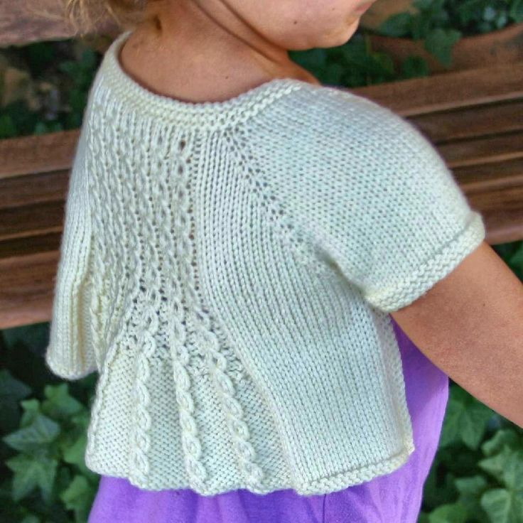 Knitted: Marian Shrug, love the back on this.