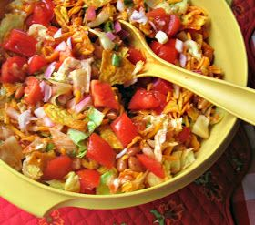 Cooking with K | Southern Kitchen Happenings: Granny's Recipe! Mexican Salad made with Catalina Dressing {Perfect for July 4th!}