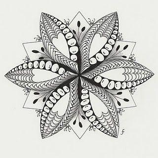 Zentangle Flower Star Art A La Mode Pinterest The