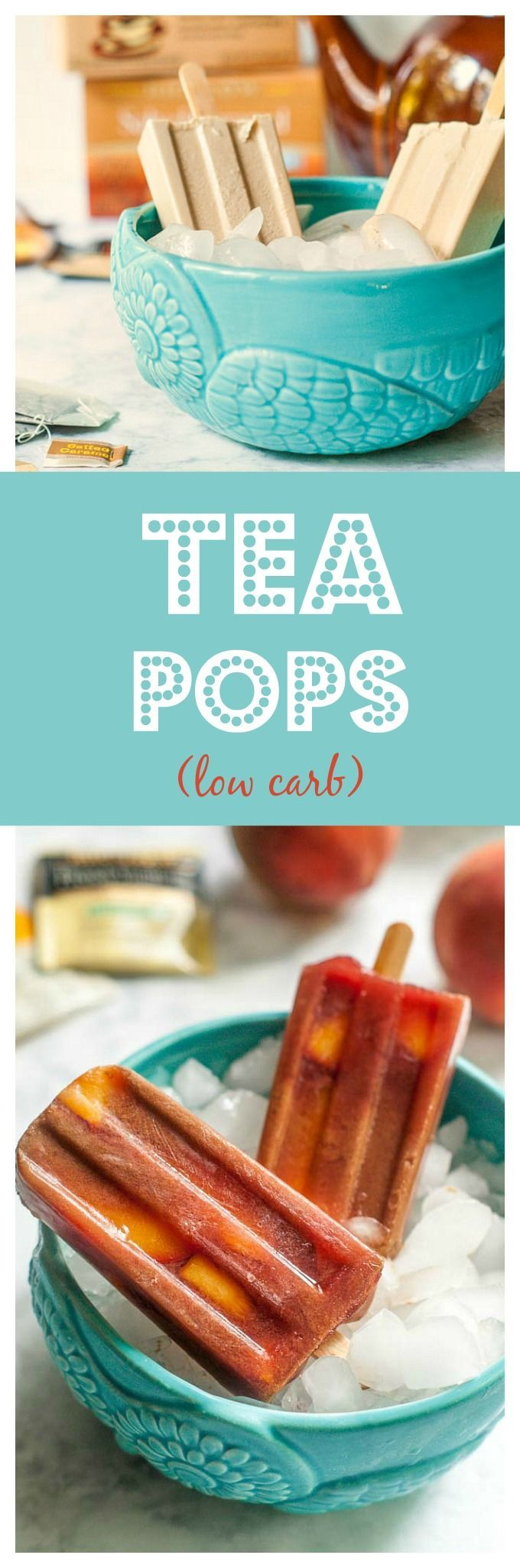Low carb tea pops - a healthy, tasty treat 1.7 carbs #ad #TeaProudly