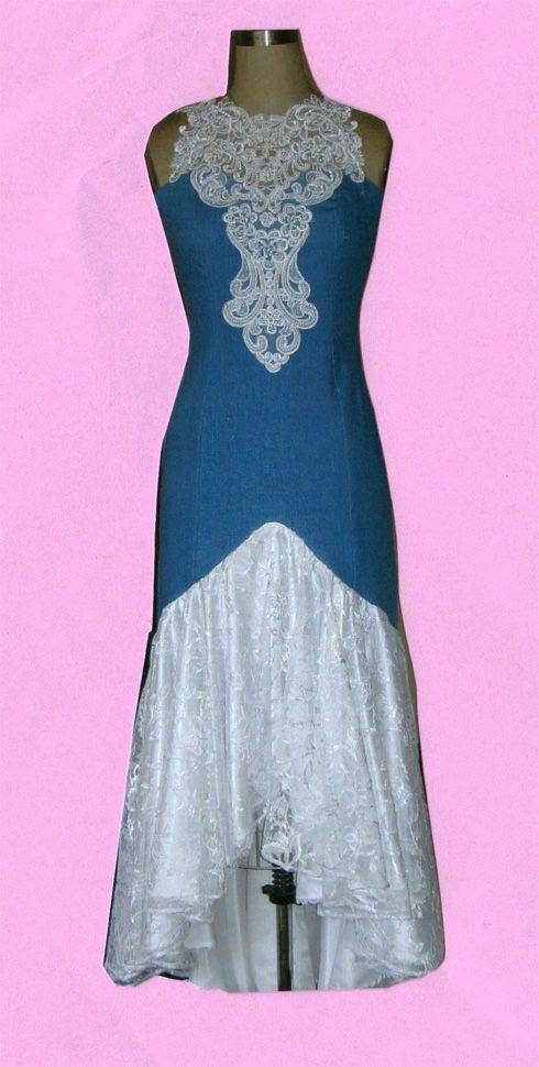 Denim and Lace Wedding Dress