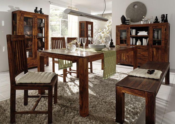 Guru Essgruppe Akazie 180x90cm Mit 3 Stühlen Und 1 Bank Von Wolf Möbel Bei  SalesFever.