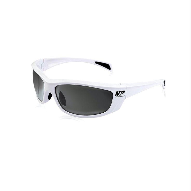 M&P Whitehawk Full Frame Shooting Glasses White-Smoke