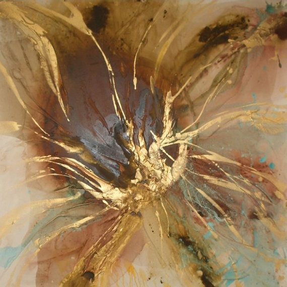 Original Flower Fine Art by Caroline Ashwood – contemporary modern painting on canvas