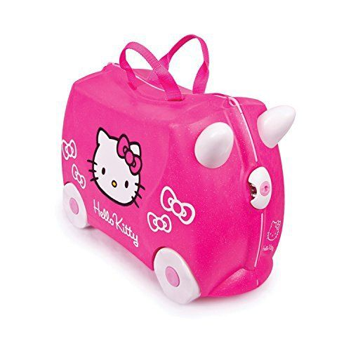 Trunki Trunki Ride-On Suitcase Bagage Enfant, 46 cm, 18 L, Rose 0131-GB01: La valise Trunki Ride-On Hello Kitty accompagne tous les…