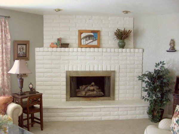 painted white brick fireplace78 best Painted White Brick Fireplaces images on Pinterest  White