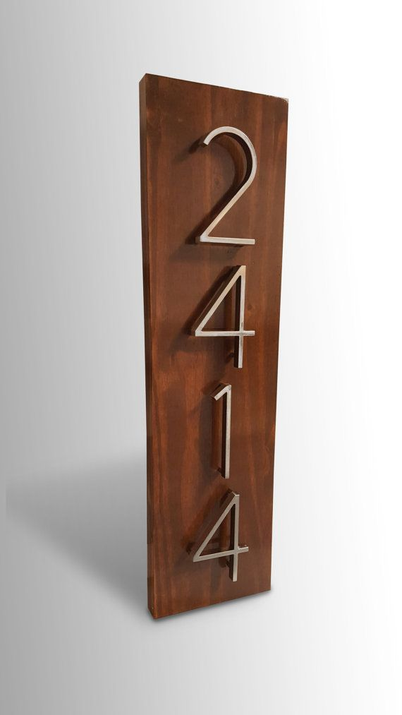 Modern House Numbers Mid Century Modern Pinterest