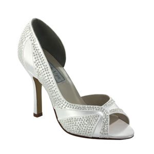 """http://www.sexyshoes.co.nz Style: Autumn 430 Material: Satin Colour: White  Dyable: Yes Height: 3 1/2"""" Sizes: 5-11 $249"""