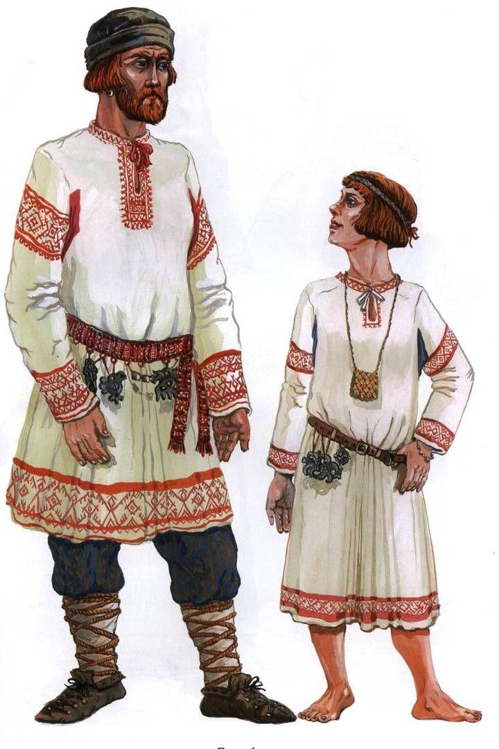несколько костюм славян в картинках оно напоминает