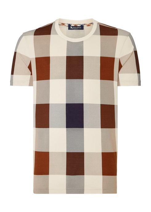 c1ec2710f Kenneth large club check t-shirt - Aquascutum