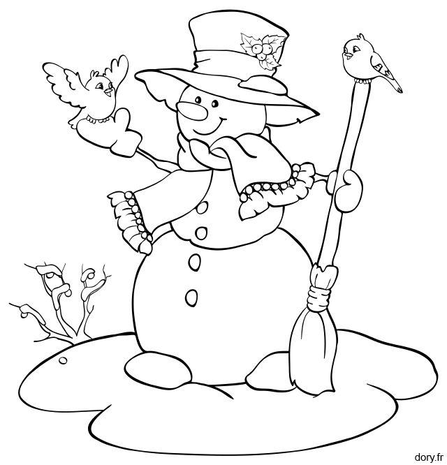1000 id es propos de dessin bonhomme de neige sur - Bonhomme a colorier ...