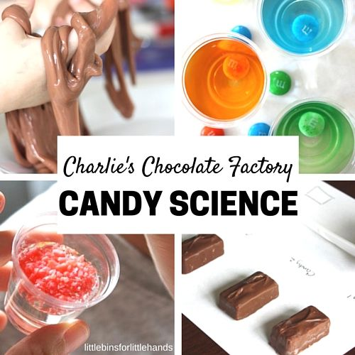 Celebrate Roald Dahl and Charlie and The Chocolate Factory with your own candy lab! Try fun and simple candy science activities to delight the senses.