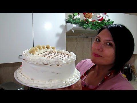 NAVIDAD: TORTA POMPADOUR DE PLATANO Y MANJAR  - Silvana Cocina ❤