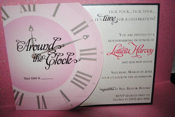 1000 images about around the clock theme party ideas on for Around the clock bridal shower decoration ideas