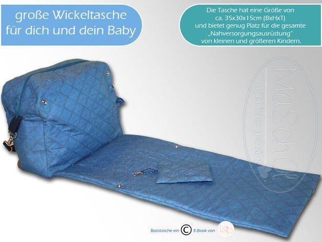 #Wickelunterlagen - Große #Wickeltasche mit Wickelunterlage - ein Designerstück von Maschol bei DaWanda
