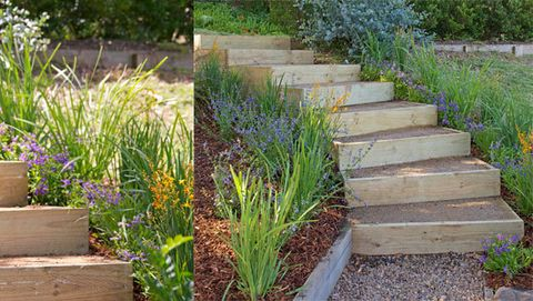 How to build garden stairs better homes and gardens Yahoo better homes and gardens
