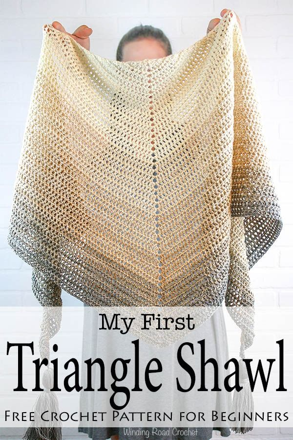 My First Triangle Shawl Free Crochet Pattern Community Crochet