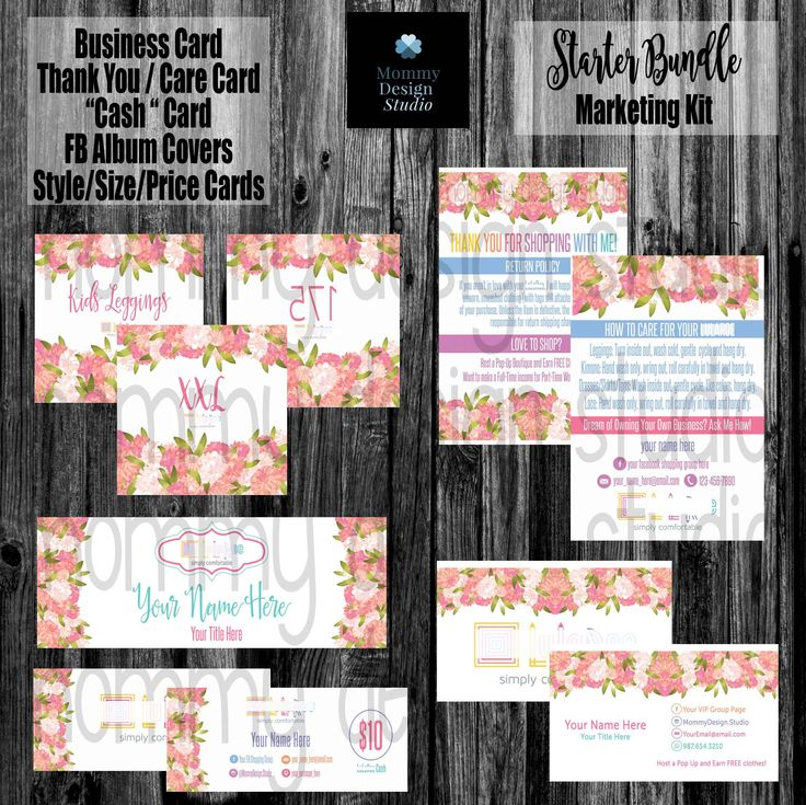 Business Marketing Bundle - HO APPROVED -Ho Fonts/Colors -Pink WaterColor Roses -Thank You Care Card, FB Banner/Covers, Numbers1-200, Cash by MommyDesignStudio on Etsy https://www.etsy.com/listing/526671346/business-marketing-bundle-ho-approved-ho
