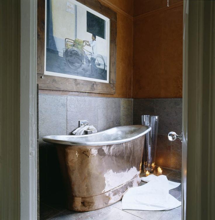 Bronze Bath Tub. Design by Oliver Burns.