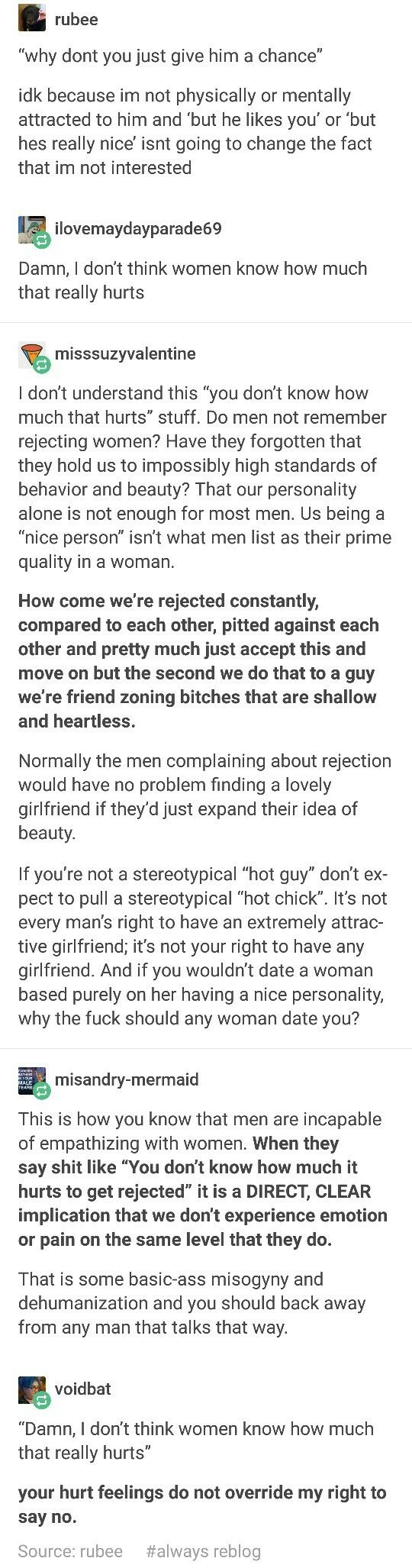 All of this. ALL of it. ESPECIALLY the parts about dehumanizing a perfectly nice woman with a good personality just because she isn't living up to that idealized archtype in your head.