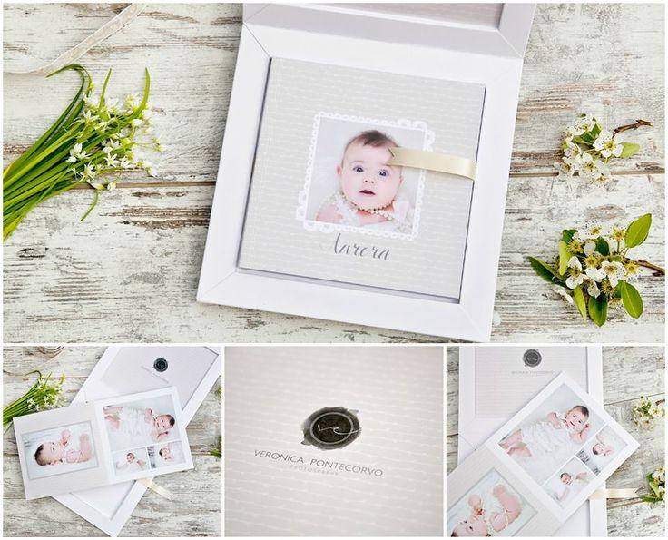 Beautiful #babybook made by the Italian photographer Veronica Pontecorvo.  #graphistudio #newborn #portraitphotography