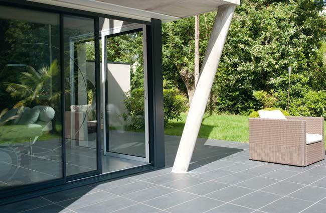 Baie vitrée 4 vantaux 2 rails, gamme StarAlu Optima, pose en rénovation - devis en ligne 2000€ pour 3,50 m