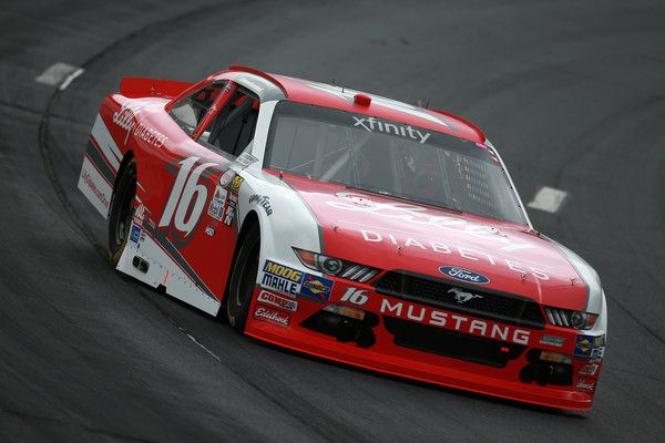 Ryan Reed, driver of the #16 Lilly Diabetes Ford, practices for the NASCAR XFINITY Series Overton's 200 at New Hampshire Motor Speedway on July 14, 2017 in Loudon, New Hampshire.