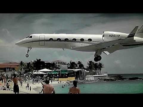 Famous Maho Beach St maarten Princess Juliana Int'l Airport - YouTube