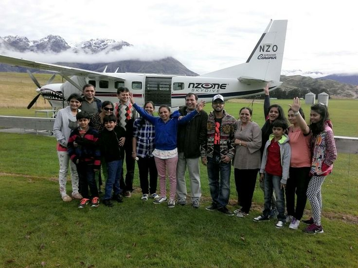 A big group from India. They cannot wait to skydive in Queenstown today! #skydive #gigatownqueenstown #Queenstown