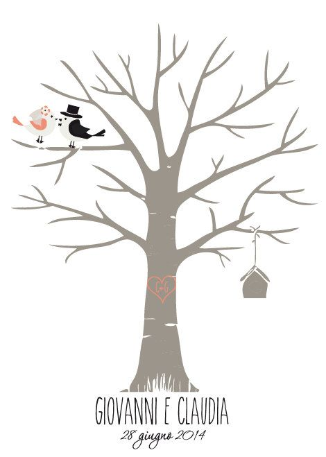 ALBERO DI NOZZE Wedding tree di LaCloclo su Etsy