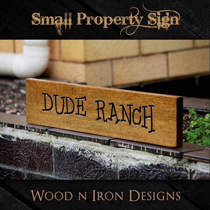 Tasmanian Oak personalised small Property sign.