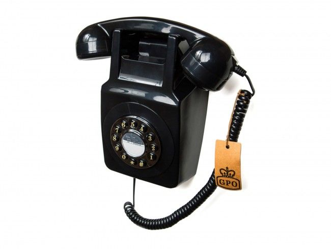 GPO 746 Muurtelefoon Zwart - Telefonie - 123platenspeler.nl