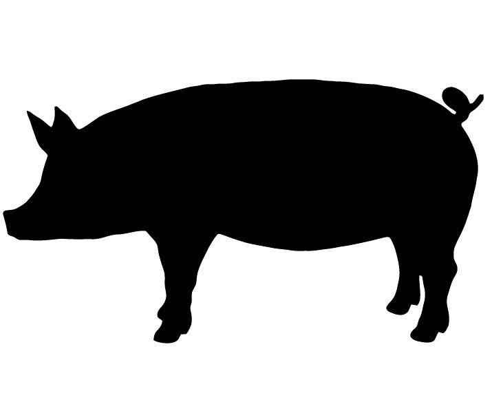 Show Pig Silhouette - ClipArt Best | photo | Pinterest ...