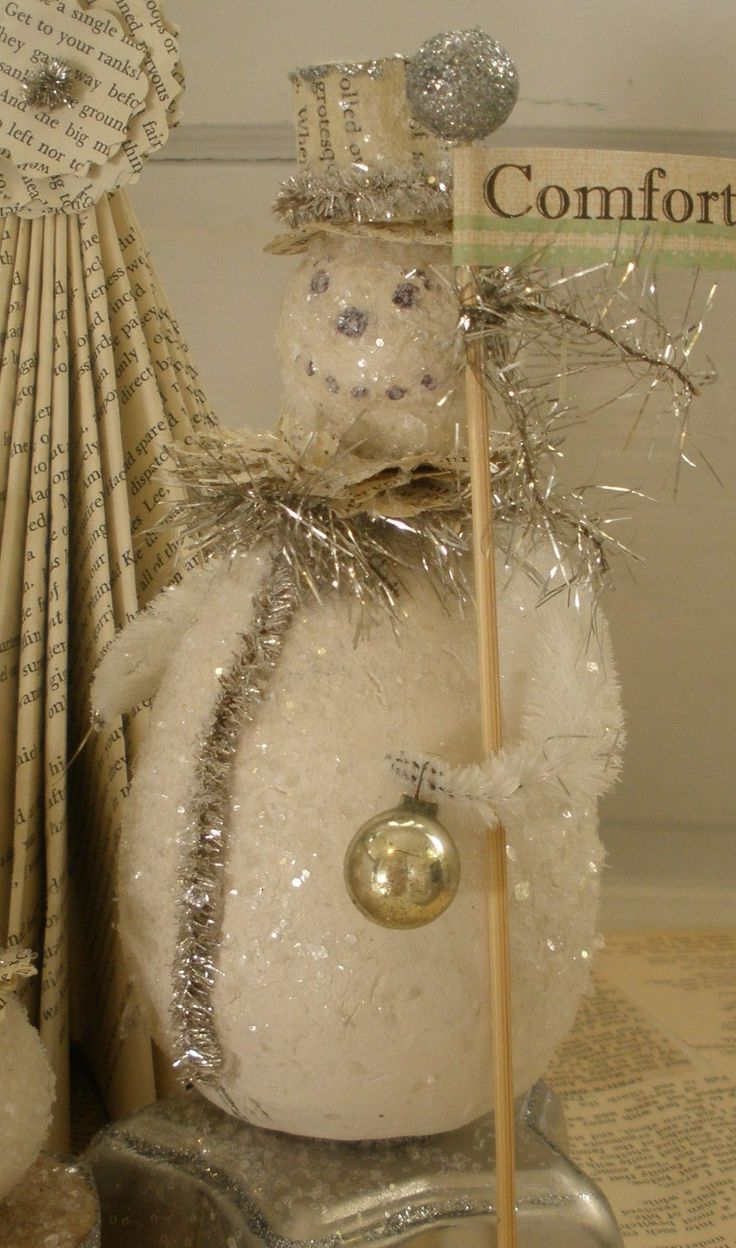 Primitive christmas ideas to make - Snowman To M Ke