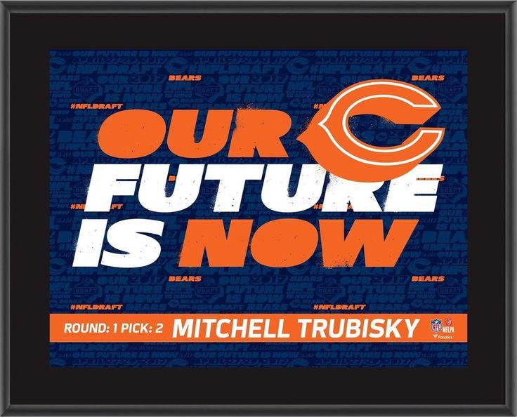 "Mitchell Trubisky Chicago Bears 10.5"" x 13"" 2017 NFL Draft #2 Pick Item#7075752   Sports Mem, Cards & Fan Shop, Autographs-Original, Football-NFL   eBay!"