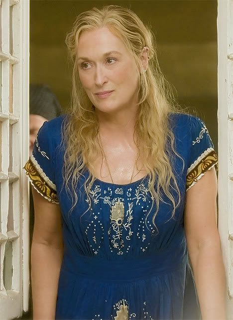 Meryl Streep  is one of the few actors who is capable  of accurately portraying a mother who is  relationships with multiple patriarchal characters. In her portrayal of of the mom in momma mis, she has intimate relationships with 3 guys. The same type of relationship Sarah has both both Andrew and lawrence