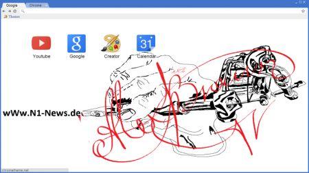 Free Google Chrome Theme from Alex Brown wWw.N1-News.de   Zeichnung - Tätowierung: Hand und tattoo maschine von Alex Braun www.N1-News.de Рисунок - Татуировка: рука и тату-машинка, от Алекса Брауна www.N1-News.de