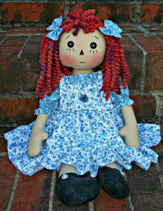 Primitive Raggedy Doll PDF E Pattern